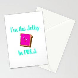 Peanut Butter and Jelly Day Foodie Quote Stationery Cards