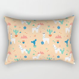 Summer Llamas Rectangular Pillow