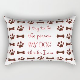 Dog Person Rectangular Pillow