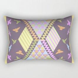 Patterns, Birds and Pastels Rectangular Pillow