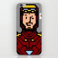 tony stark iPhone & iPod Skins featuring tony stark by saltyking
