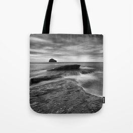 By the Rocky Shore Tote Bag