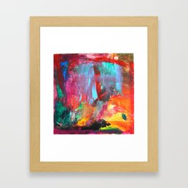 Abstract in Red Framed Art Print