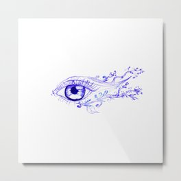Abstractive Eye Ink Metal Print