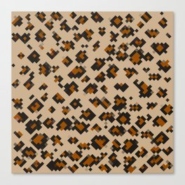 Pixelated Leopard Canvas Print