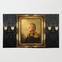 true detective Area & Throw Rugs featuring Bill Murray - replaceface by replaceface