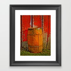 Barrel 52 Framed Art Print
