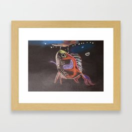 Goldfish Bubbles Framed Art Print