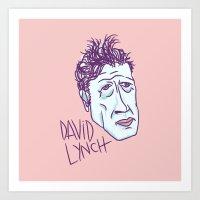 david lynch Art Prints featuring DAVID LYNCH by Josh LaFayette