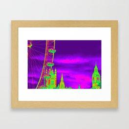 Neon Eye Framed Art Print