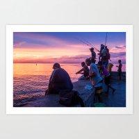 Fisherman at the Malecón Art Print