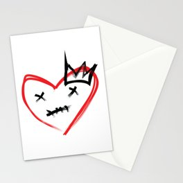 Crowned Heart Stationery Cards