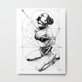 Restrained In Geometry. ©Yury Fadeev Metal Print