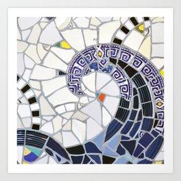 Blue Fandango Mosaic Art Print