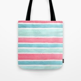Pastel stripes Tote Bag