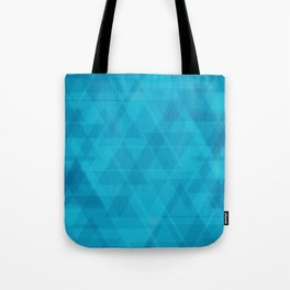 Gentle light blue triangles in the intersection and overlay. Tote Bag