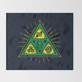 The Tribal Triforce Throw Blanket