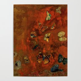 "Odilon Redon ""Evocation of butterflies"" Poster"