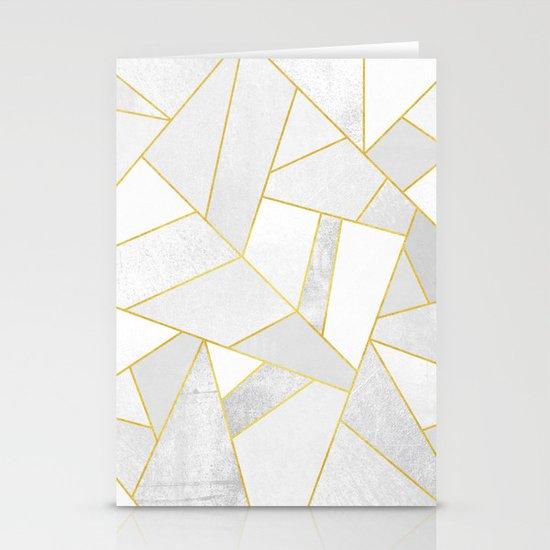 White Stone Stationery Cards By Elisabeth Fredriksson