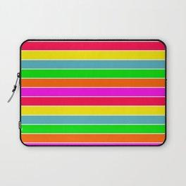 Neon Hawaiian Rainbow Horizontal Deck Chair Stripes Laptop Sleeve