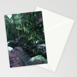Frazer Island Rainforest in Green Stationery Cards