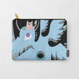angel with cat for brains Carry-All Pouch