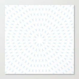 PCT2 Fractal in Ice Blue on White Canvas Print