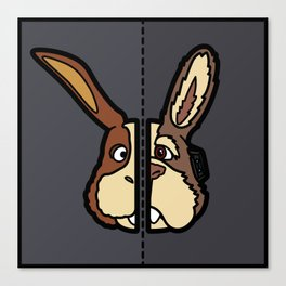 Old & New Peppy Hare Canvas Print