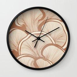 Mushrooms in Copper Wall Clock