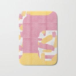 Bold Painted Tiles 01 #society6 #midmod Bath Mat