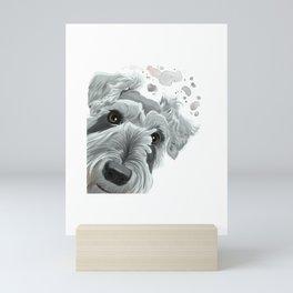 Curious Schnauzer Dog Mini Art Print
