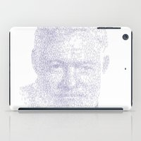 hemingway iPad Cases featuring Ernest by Stop::mashina ~Runes