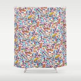 'What a girl wants' by Veronique de Jong Shower Curtain