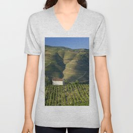 A chapel among vineyards Unisex V-Neck