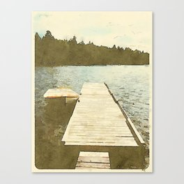 Lily Bay Dock Canvas Print