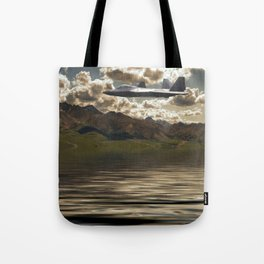 Jet Over Water Tote Bag