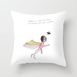 SADNESS POUTINE Throw Pillow