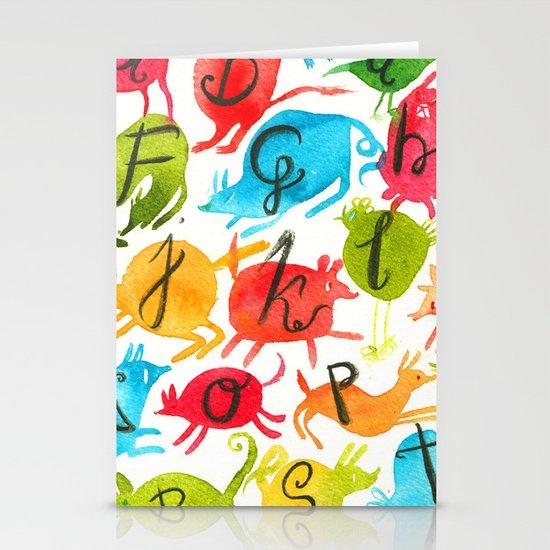 Alphabet Stationery Cards