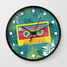 Hot Summer Hits - Retro Tape Wall Clock