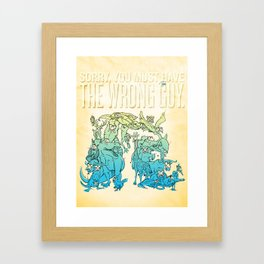 Great Disguise Framed Art Print