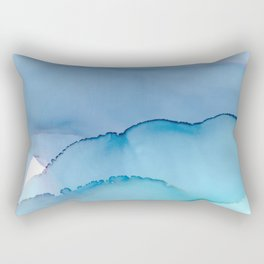 passing clouds Fluid ink abstract watercolor Rectangular Pillow