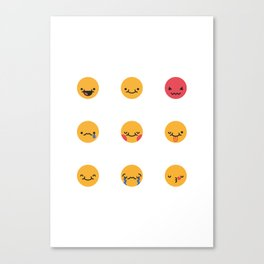 Emojis: All Canvas Print