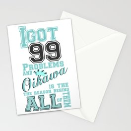 99 Problems haikyuu style Stationery Cards