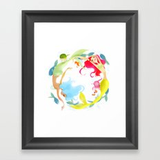 Mermaid Circle Framed Art Print
