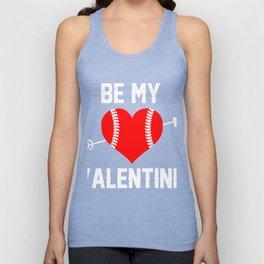 Valentine Gift. Tee For Sofball Lover. Unisex Tank Top