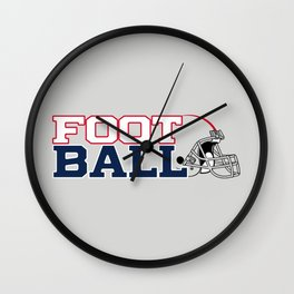 Futbol en Massachusetts Wall Clock