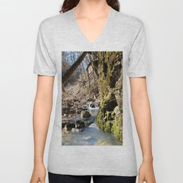 Alone in Secret Hollow with the Caves, Cascades, and Critters, No. 6 of 21 Unisex V-Neck