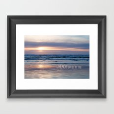 Beach Glow Framed Art Print