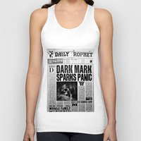 newspaper Tank Tops featuring Daily Prophet newspaper  by Basma Gallery
