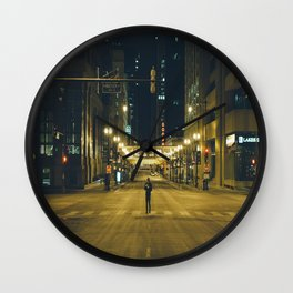 Chicago at 4 in the morning Wall Clock